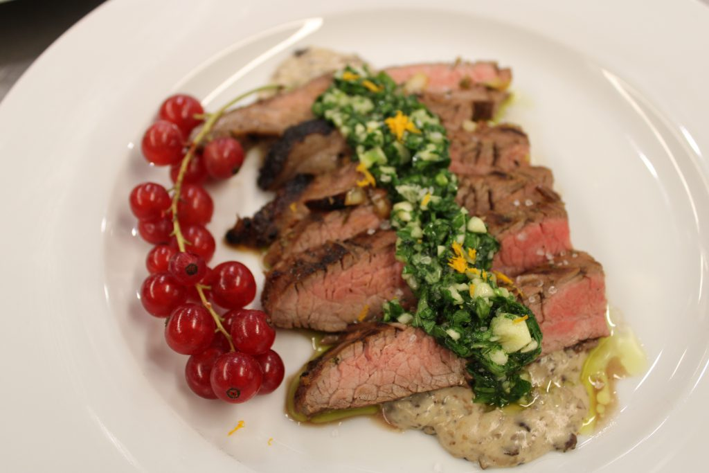 Chimichurri steak for the judges